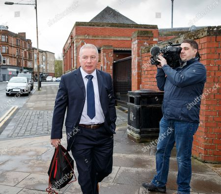 Former Rangers player and manager Ally McCoist arrives at court.