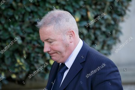 Former Rangers player and manager Ally McCoist arrives back at the court after lunch.