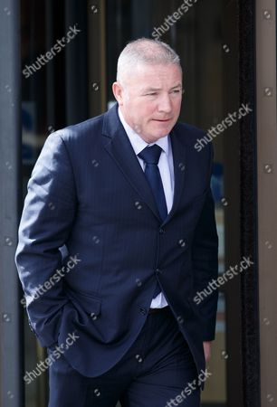 Stock Picture of Former Rangers player and manager Ally McCoist leaves the court.