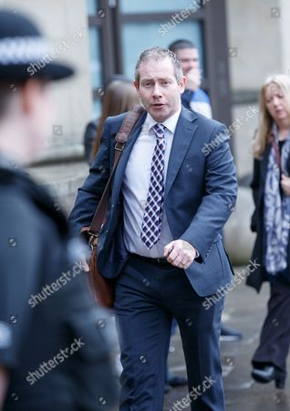 Craig Whyte trial.  Paul Kavanagh QC for Craig Whyte arrives at court.