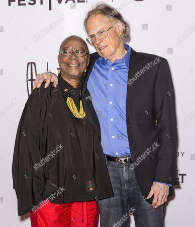 Bertha Lewis and writer John Atlas