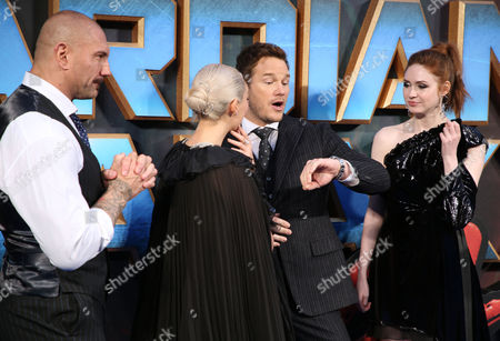 David Bautista, Chris Pratt, Kurt Russell, Karen Gillan, James Gunn
