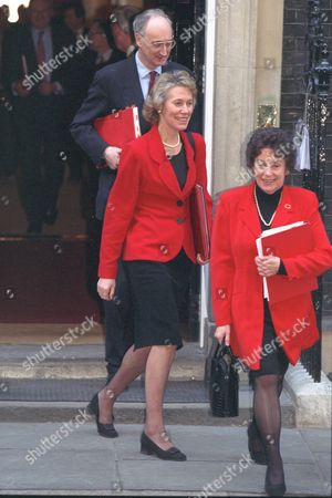 Virginia Bottomley (now Baroness Bottomley Of Nettlestone) And Gillian Shephard (now Baroness Shephard Of Northwold) Leave Downing St.