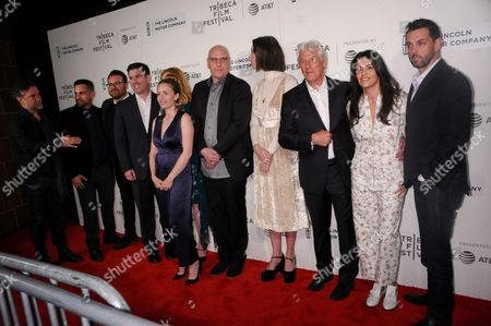 Stock Image of Michael Chernus, Donnie Colon, Eddie Vaisman, Paul Davidson, Julia Lebedev, Oren Moverman, Rebecca Hall, Richard Gere, Olga Segura, Angel Lopez