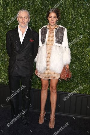 Stock Image of Lola Schnabel (R) and guest (L)