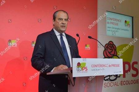 Jean-Christophe Cambadelis after the defeat of the PS Party during the 1st round of the presidential election.