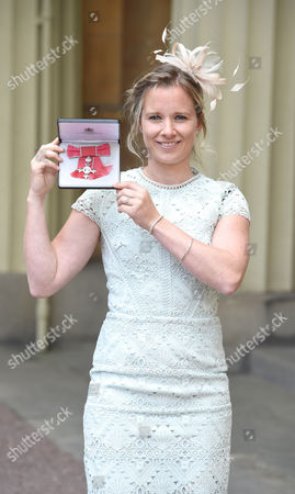 Hannah Mills during Investitures at Buckingham Palace London