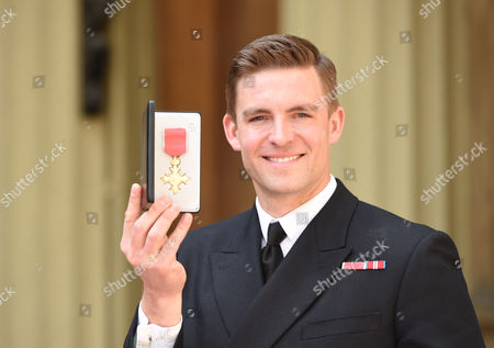 Stock Image of Lieutenant Pete Reed during Investitures at Buckingham Palace London