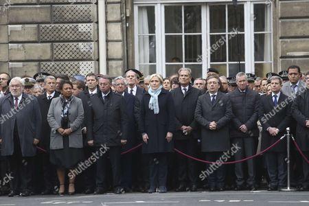 Bernard Cazeneuve, premier ministre, Francois Hollande, president de la Republique, Matthias Fekl, ministre de l'interieur