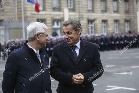 Stock Picture of Claude Bartolone, Nicolas Sarkozy