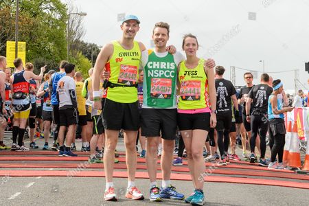Gwilym Lee (Midsomer Murders actor, running for Bloodwise), Christopher Harper (Coronation Street actor running for NSPCC) and Jessica Ransom (Doc Martin actress running for Bloodwise)