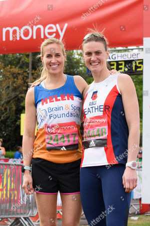 Helen Glover (Olympic Gold Medal winning rower running for The Brain & Spine Foundation) and Heather Stanning (Olympic Gold Medal winning rower running for Royal British Legion Industries)