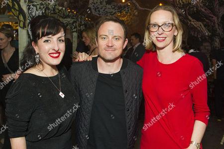 Stock Image of Emma Brunjes (Producer), James Grieve and Imogen Kinchin