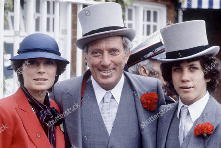 Stock Image of Laurie Wright, Andy Williams and son Christian