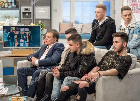 (Back Row) - Joel Healey and Sonny Hardman, (Front Row) Nigel Martin Smith, Lewis Maxwell, Cian Gleeson, Jake Donlan