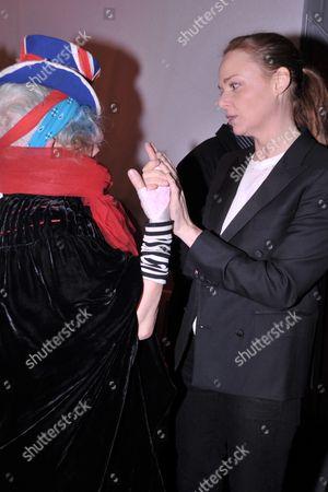 Stella McCartney and Anna Piaggi
