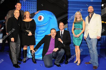 Jeffrey Katzenberg, Ralf Miller, Lisa Stewart, Oliver Kalkofe, Kiefer Sutherland, Reese Witherspoon and Conrad Vernon