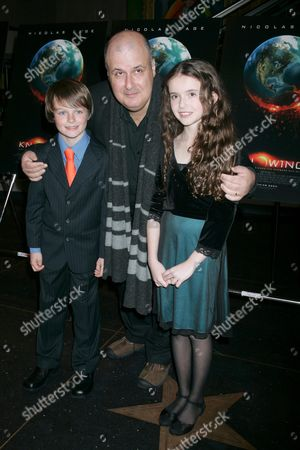 Chandler Canterbury, director Alex Proyas and Lara Robinson