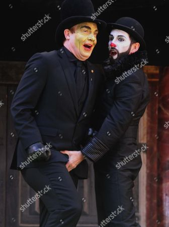 Tim Chipping as Paris and Gareth Snook as Lord Capulet