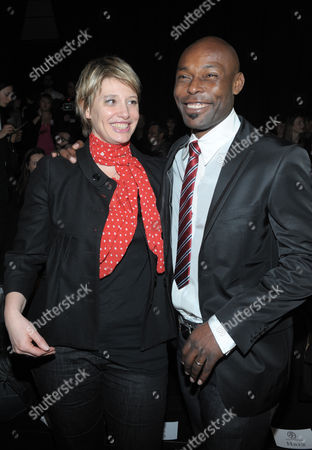 Jimmy Jean-Louis and French TV presenter Maitena Biraben