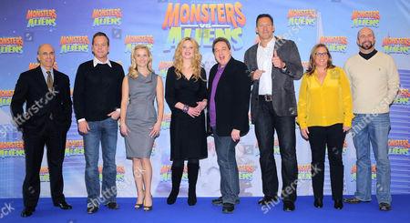 Jeffrey Katzenberg, Kiefer Sutherland, Reese Witherspoon, Diana Amft, Oliver Kalkofe, Ralf Möller, Lisa Stewart and Conrad Vernon