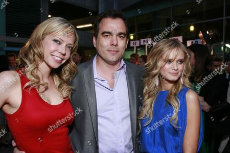Riki Lindhome, Director Dennis Iliadis and Sara Paxton