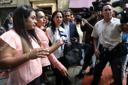 Editorial photo of Peruvian former president Humala and his wife testify before prosecutor investigating alleged laundering of assets, Lima, Peru - 26 Apr 2017