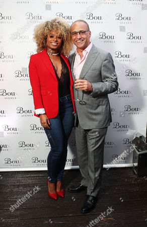 Fleur East and Theo Paphitis