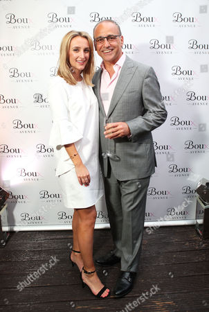 Theo Paphitis with Tiffany Watson