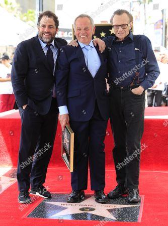 Wolfgang Puck, Brett Ratner and Larry King