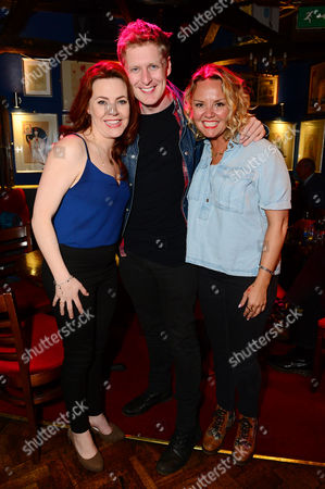 Stock Photo of Rachel Tucker and Gerard McCarthy with Charlie Brooks
