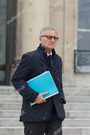 French Minister of State for Relations with Parliament, Andre Vallini leaves after the weekly cabinet meeting at Elysee Palace