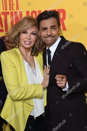 Eugenio Derbez and Raquel Welch