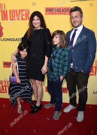 Kathryn Hahn, Ethan Sandler and Leonard Sandler and Mae Sandler