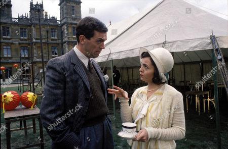 'Jeeves and Wooster' - Bertie Wooster [Hugh Laurie] encounters Stiffy Byng [Charlotte Attenborough]