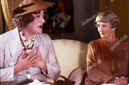 'Jeeves and Wooster'  - Jeeves [Stephen Fry] impersonating Daphne Dolores Morehead having tea with Aunt Dahlia [Jean Heywood at Brinkley Court.