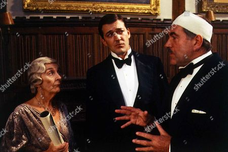 'Jeeves and Wooster'  - Aunt Dahlia [Patricia Lawrence], Roderick Spode [John Turner] and Jeeves [Stephen Fry]