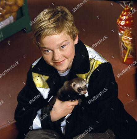 Stock Image of 'The Queen's Nose' children's TV programme, Jake (Jordan Metcalfe) with Frank