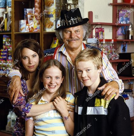'The Queen's Nose' children's TV programme,  (L-R) Carla (Juliet Cowan), Gemma (Lucinda Dryzek), Chief (David Sterne) and Jake (Jordan Metcalfe)