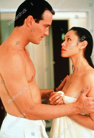 'Tanamera - Lion of Singapore' - TV - John Dexter (Christopher Bowen) and Julie Soong (Khym Lam) Embrace Each Other Fresh From the Shower