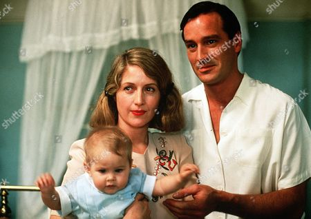 'Tanamera - Lion of Singapore' - TV - John Dexter (Christopher Bowen) and Irene (Louise Lambert) and their young child