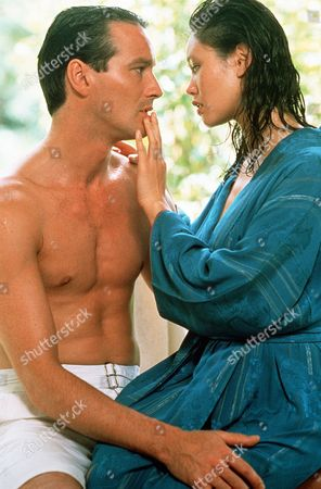 'Tanamera - Lion of Singapore' - TV - John Dexter (Christopher Bowen) and Julie Soong (Khym Lam) share a tender moment