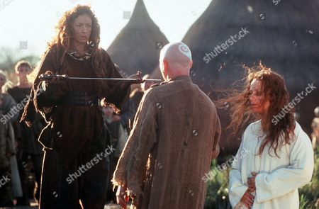 'Boudica' AKA 'Warrior Queen' - TV - Boudica (Alex Kingston), Magior (Gary Lewis) , Siorra (Leanne Rowe)