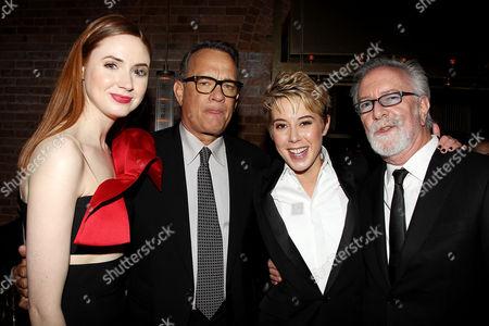 Karen Gillan, Tom Hanks, Sophie Watts and Gary Goetzman