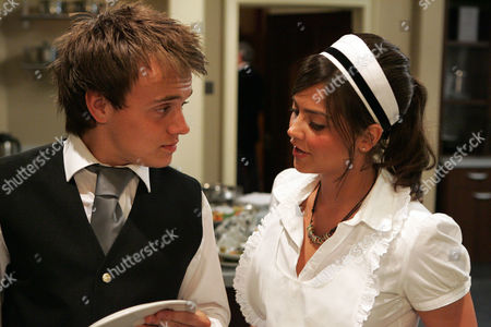 'Emmerdale'   When Jake Doland (James Baxter) and Jasmine Thomas (Jenna-Louise Coleman) work together their flirting turns a little more serious. When Jake sees Miles De Souza (Ayden Callaghan) entering he decides to go in for a kiss that Jasmine responds to.
