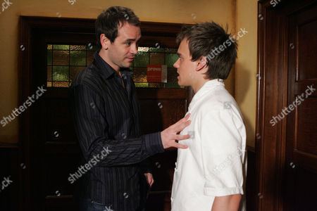 'Emmerdale'   A Jealous Miles De Souza (Ayden Callaghan) warns Jake Doland (James Baxter)to stay away from Jasmine.