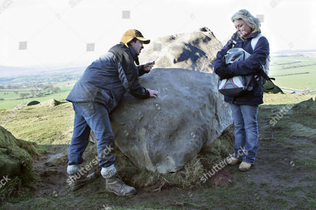 'Emmerdale'   TV   Soap   -   2008 Pictured: Louise Appleton (Emily Symons) is left disappointed when she is convinced that Jamie Hope (Alex Carter) is going to propose but insetead he just carves their names in to a rock.