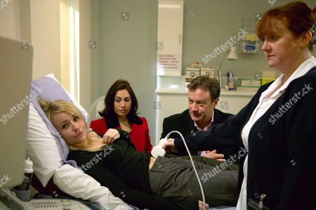 'Emmerdale'   TV   Soap   -   2008 Pictured: Perdita Hyde-Sinclair (Georgia Slowe) feels left out when she goes to the ultrasound with Grayson Sinclair (Christopher Villiers) and Katie Sugden (Sammy Winward).