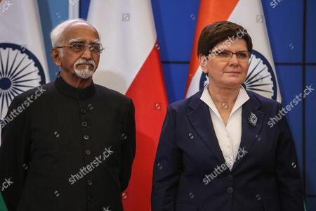 Beata Szydlo and Mohammad Hamid Ansari