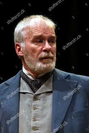 """Ian McElhinney played Christopher Gore in """"The Home Place"""" play written by Brian Friel.  A Lyric Theatre Production at Grand Opera House, Belfast, Northern Ireland"""